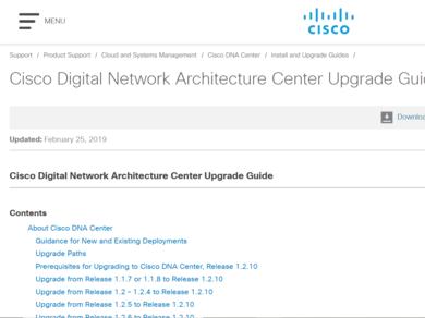 Guide] Cisco Digital Network Architecture Center Upgrade Guide
