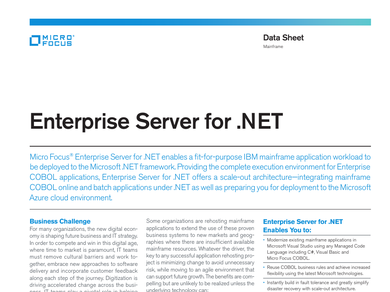 enterprise server data sheet