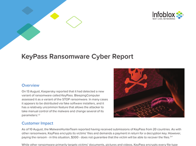 Keypass Ransomware Cyber Report - 20180817
