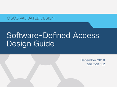 Guide Cisco Validated Design Software Defined Access Design Guide