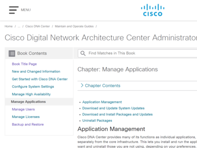 Guide] Cisco DNA Center: Manage Applications