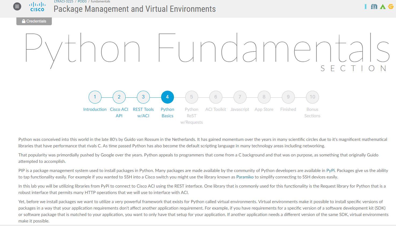 Webpage] Python Fundamentals