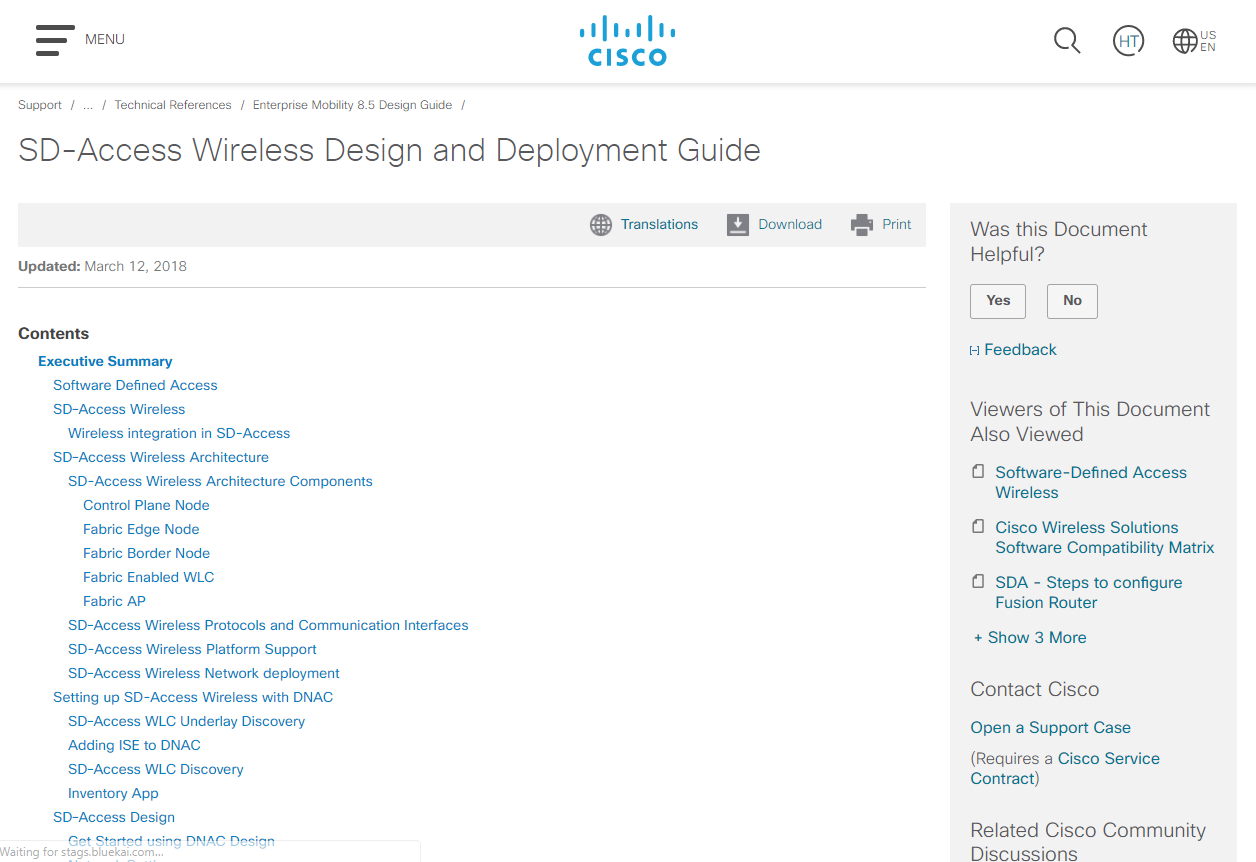 Guide] SD-Access Wireless Design and Deployment Guide