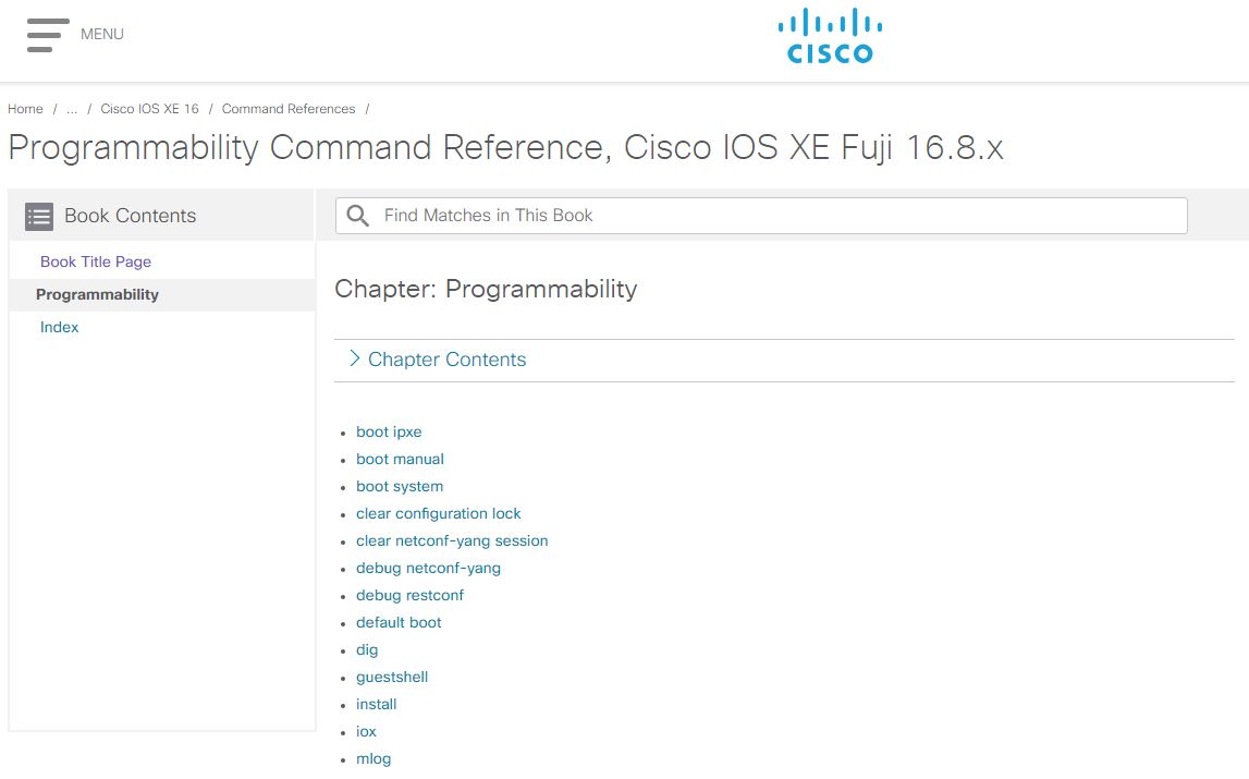 Programmability Command Reference, Cisco IOS XE Fuji 16 8 x