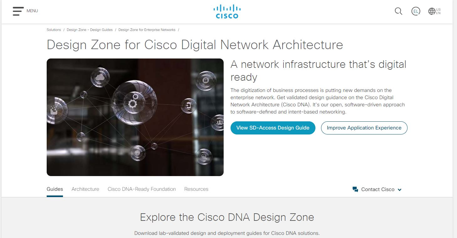 Cisco DNA Design Zone