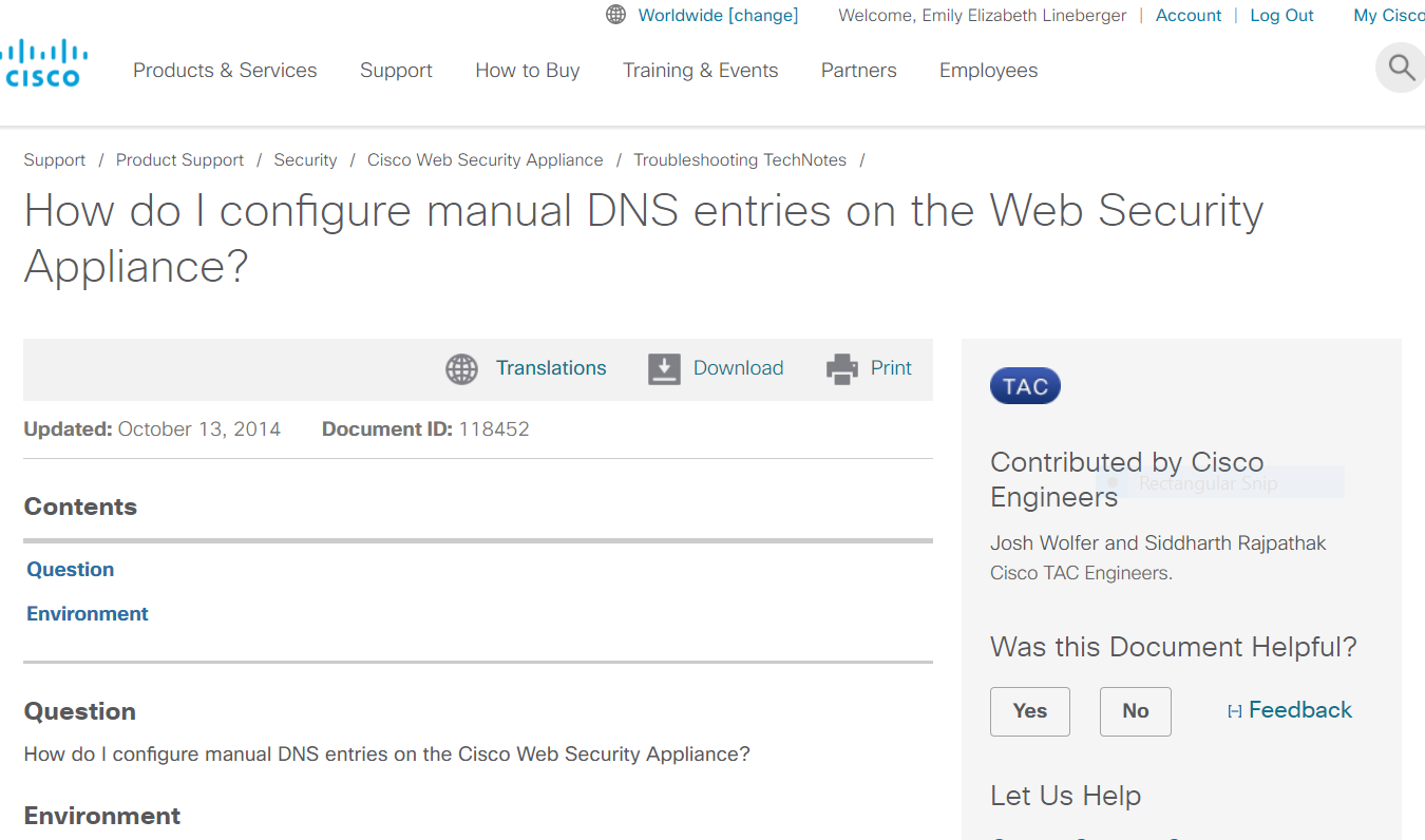 How Do I Configure Manual DNS Entries on the Web Security Appliance?
