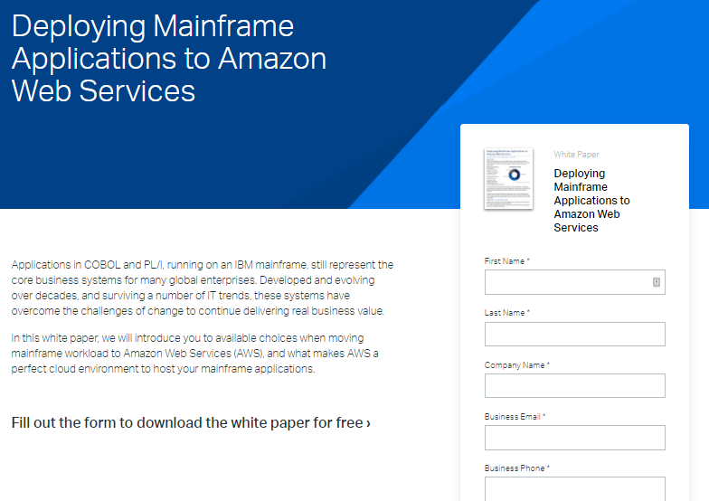 Reinventing Mainframe Apps in the Cloud