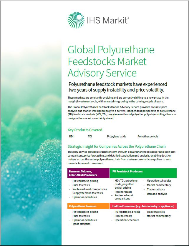 Gain clarity needed to navigate the changing polyurethane feedstocks