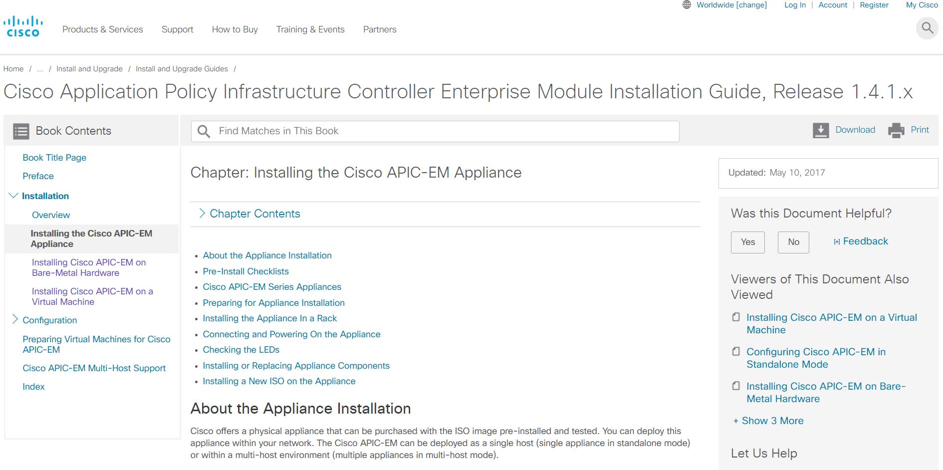 Guide] APIC-EM Installing the Cisco APIC-EM Appliance