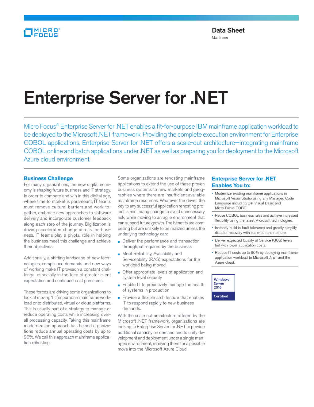 Enterprise Server For
