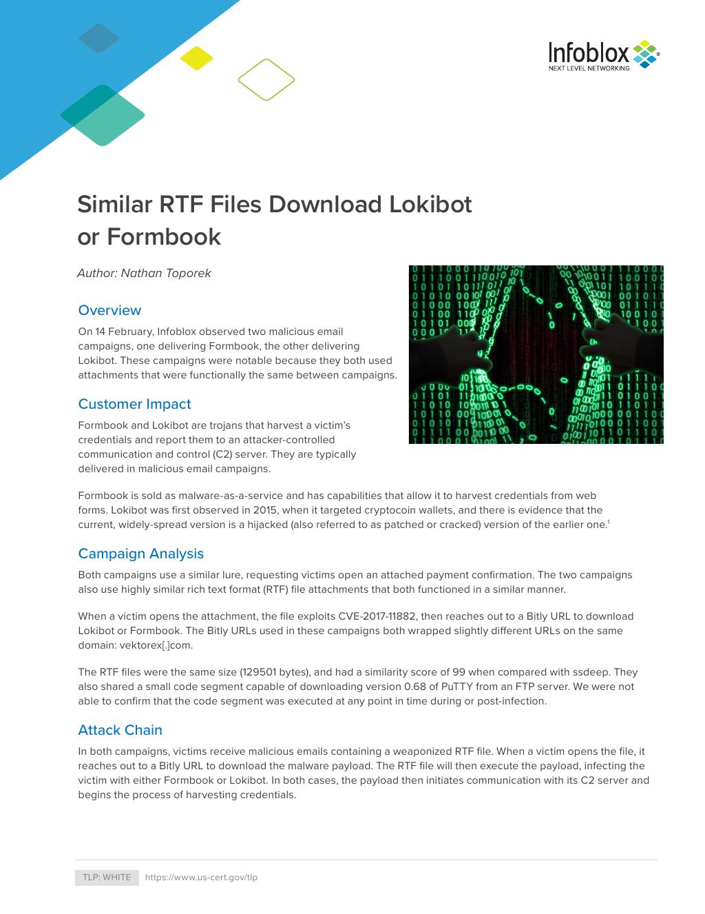 Similar RTF Files Download Lokibot Or Formbook - 20190220