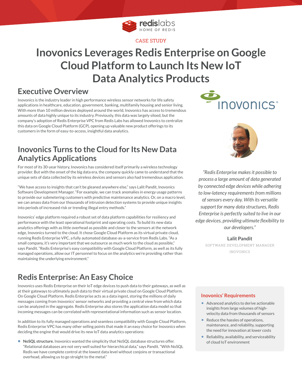 Inovonics Leverages Redis Enterprise on Google Cloud Platform to