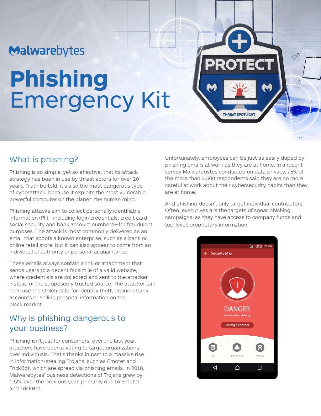 Malwarebytes Emergency Kit Phishing
