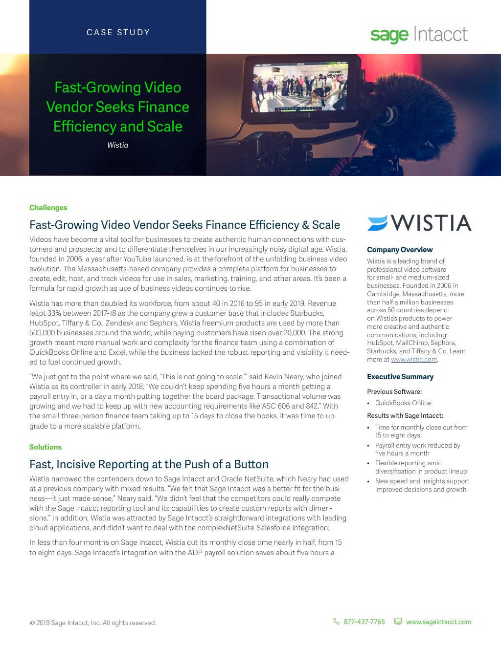 Wistia: Fast-Growing Video Vendor Seeks Finance Efficiency