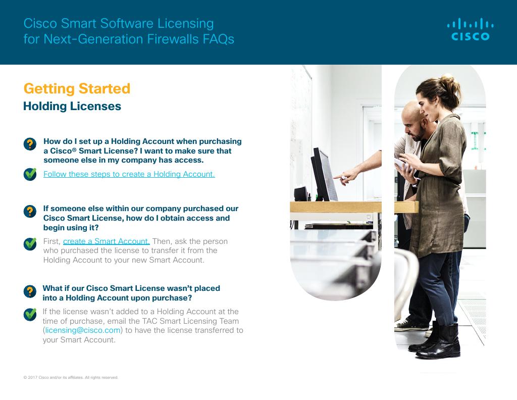 Cisco Smart Software Licensing for Next-Generation Firewalls