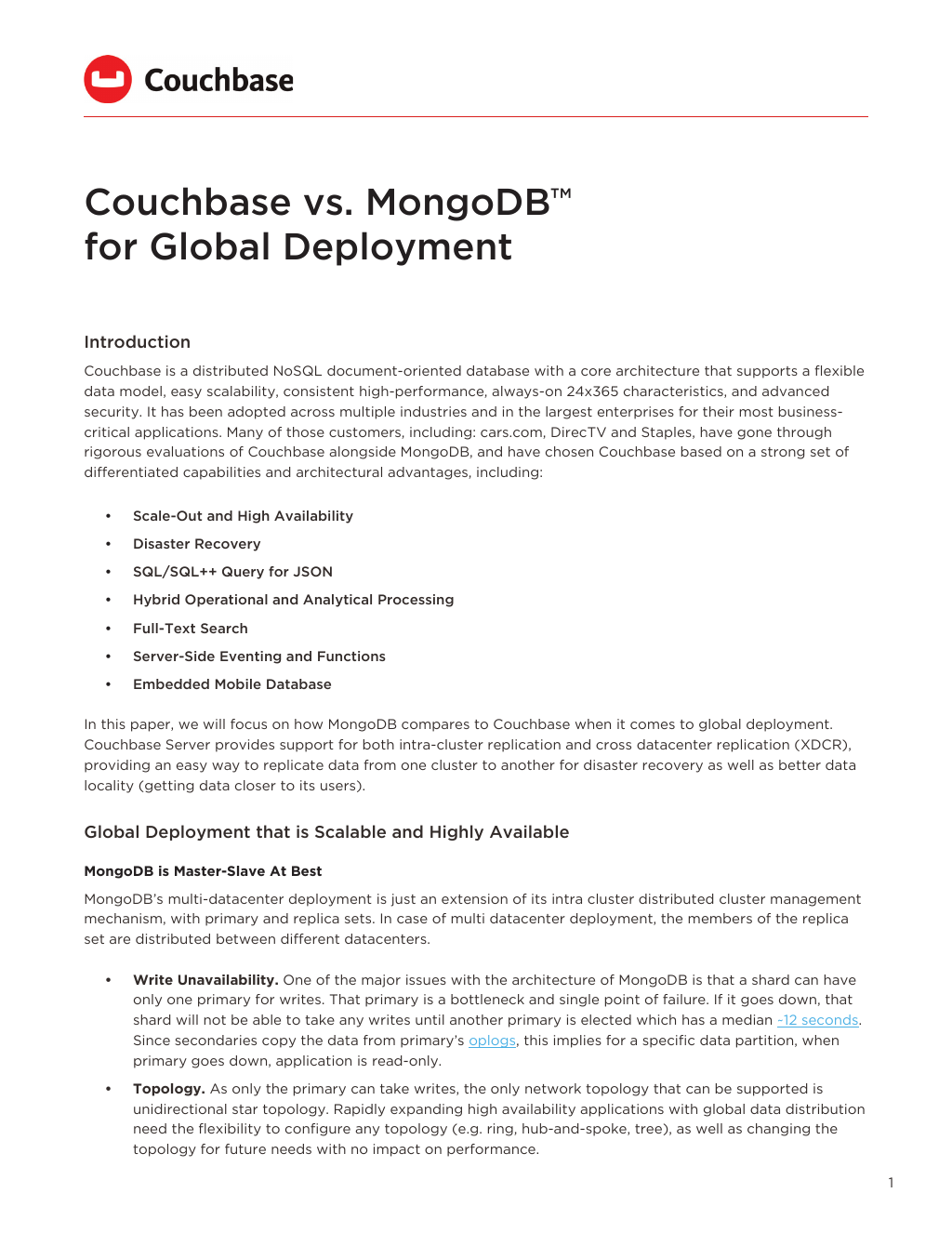 Whitepaper] Couchbase vs  MongoDB™ for Query