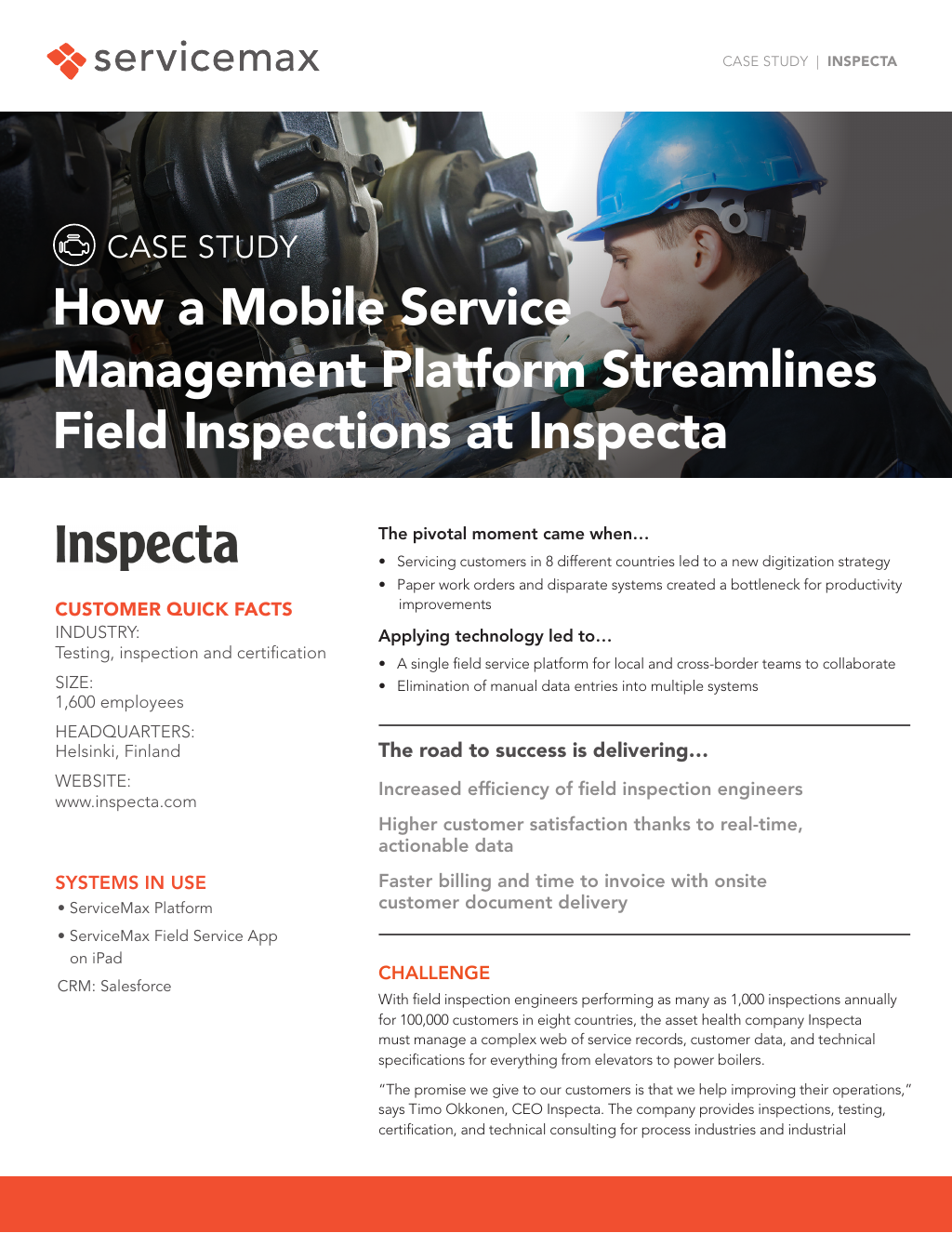 Servicemax For Inspection And Testing Services