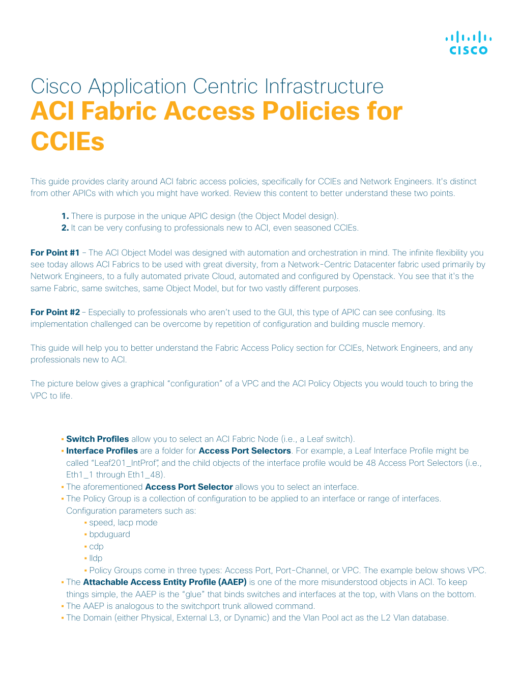 Guide] Fabric Access Policies for CCIEs