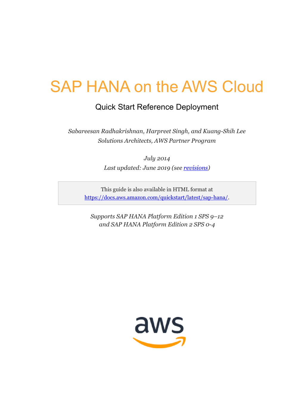 Technical Guide: Quick Start Deployment Architecture: SAP