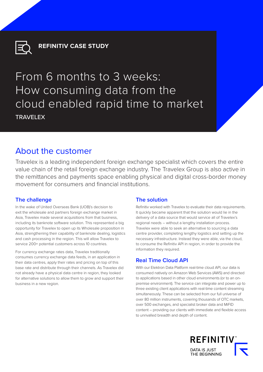 Refinitiv Case Study] From 6 months to 3 weeks: How