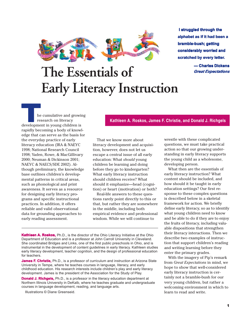 fostering literacy development in young children