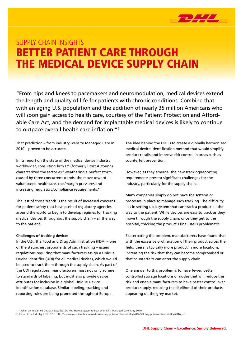 Playbook | Medical Device Final Mile (DFM)
