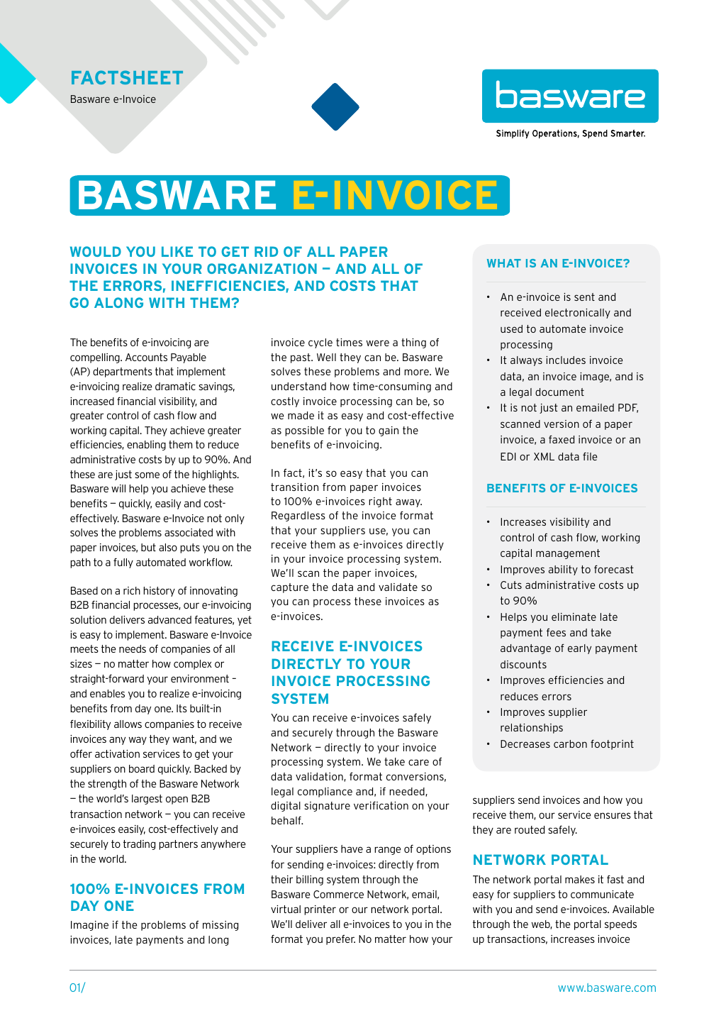 Einvoice Receiving Services Management To Improve Efficiency Basware - Invoice received