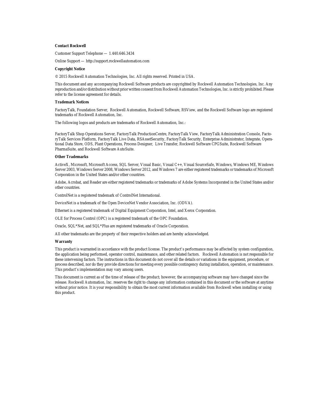 Factorytalk Performance Management User Guide