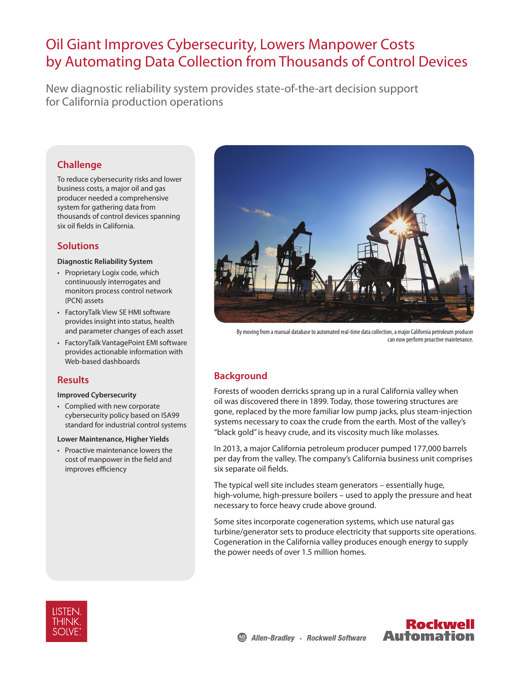 Oil Giant Improves Cybersecurity and Lower Manpower Costs