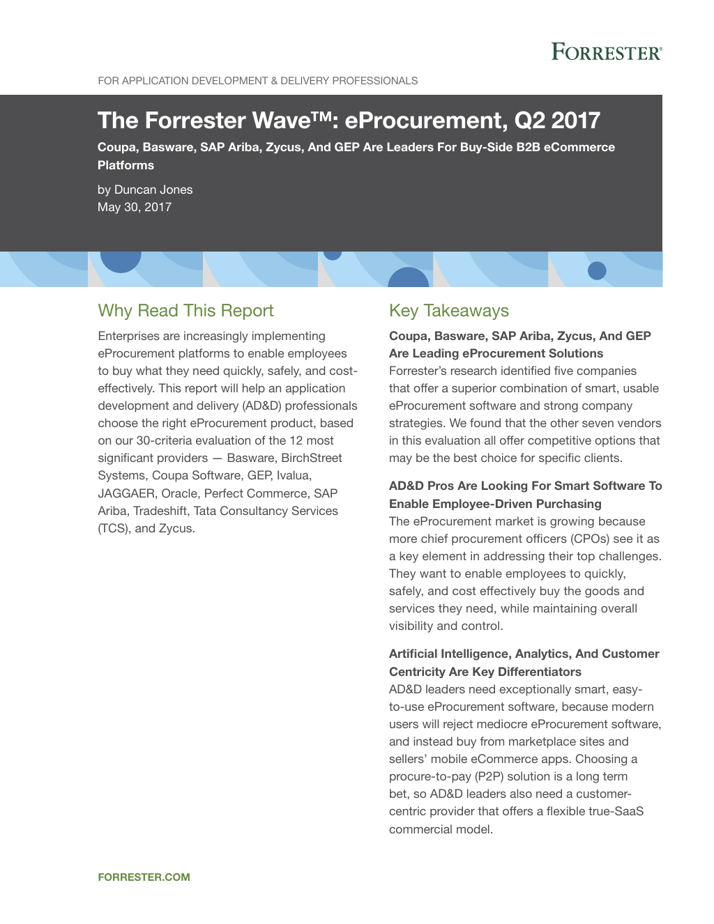 E procurement solutions to manage compliance basware analyst report the forrester wave 2017 fandeluxe Choice Image